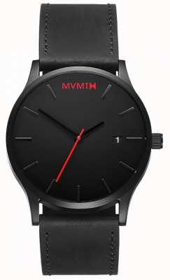MVMT Cuir noir classique | bracelet noir | cadran noir D-L213.5L.551