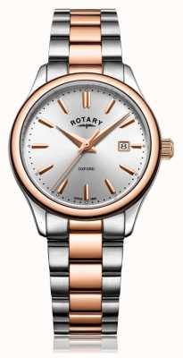 Rotary Bracelet oxford bicolore pour femme en or rose LB05094/06