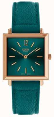 Henry London Héritage féminin montre petite place verte HL26-QS-0258