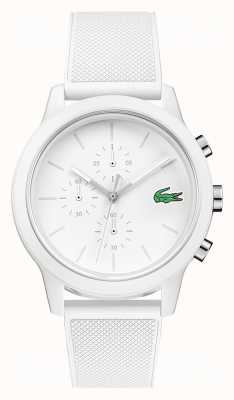 Lacoste Bracelet en silicone blanc 12.12 pour chronographe 2010974
