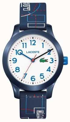 Lacoste 12.12 enfants cadran bleu bracelet blanc 2030008