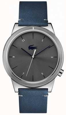 Lacoste Cadran bleu en cuir avec cadran gris 2010989