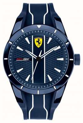 Scuderia Ferrari Bracelet en caoutchouc bleu cadran bleu 0830541