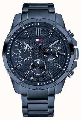 Tommy Hilfiger Decker | bracelet ip bleu | cadran bleu 1791560