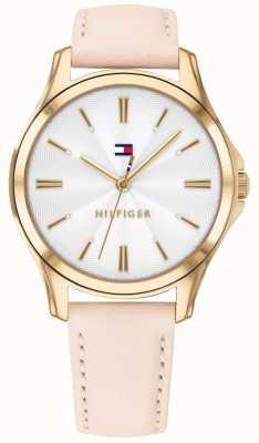 Tommy Hilfiger Lori | bracelet en cuir blush | cadran blanc 1781954