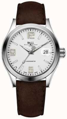 Ball Watch Company Bracelet en cuir marron argent NM2026C-L4CAJ-SL