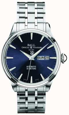 Ball Watch Company Trainmaster eternity cadran bleu affichage automatique du jour et de la date NM2080D-SJ-BE
