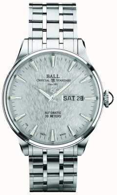 Ball Watch Company Trainmaster eternity cadran argenté automatique affichage de la date du jour NM2080D-SJ-SL