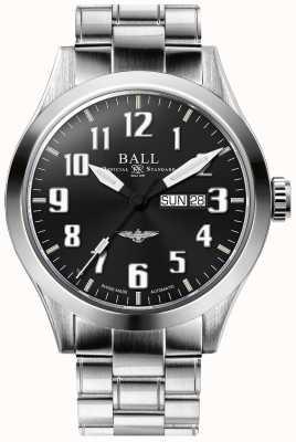 Ball Watch Company Ingénieur iii argent étoile cadran noir affichage jour et date NM2180C-S2J-BK