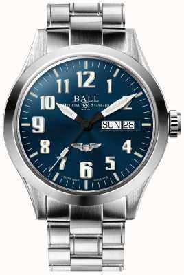 Ball Watch Company Bracelet en acier inoxydable cadran bleu étoile argenté Engineer III NM2182C-S3J-BE