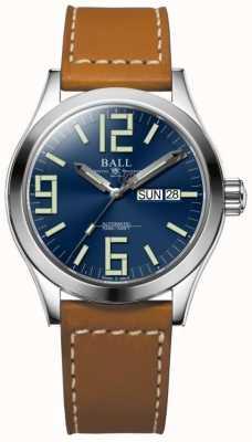 Ball Watch Company Ingénieur ii genesis cadran bleu tan cuir bracelet jour et date NM2026C-LBR7-BE