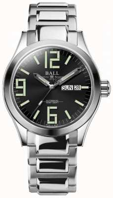 Ball Watch Company Ingénieur ii genesis cadran noir en acier inoxydable jour et date NM2026C-S7J-BK