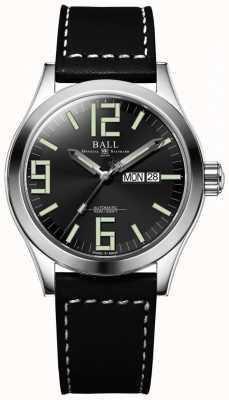 Ball Watch Company Ingénieur ii genesis cadran noir bracelet en cuir jour et date NM2028C-LBK7J-BK