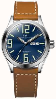 Ball Watch Company Ingénieur ii genesis cadran bleu tan cuir bracelet jour et date NM2028C-LBR7-BE