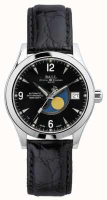 Ball Watch Company Bracelet en cuir noir NM2082C-LJ-BK