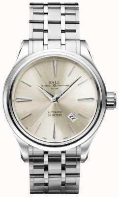 Ball Watch Company Trainmaster legend cadran crème automatique en acier inoxydable date NM9080D-SJ-SL