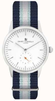 Smart Turnout Montre signature - blanche avec lanière STK3/WH/56/W