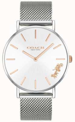 Coach Montre bracelet en maille d'argent perry pour femme 14503124