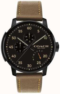 Coach Cadran noir montre multifonction 14602339