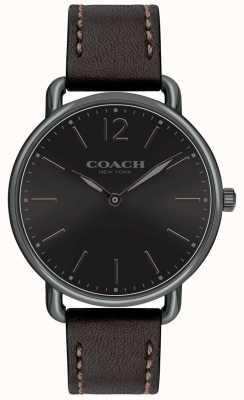 Coach Montre homme noire avec cadran noir, bracelet noir 14602346