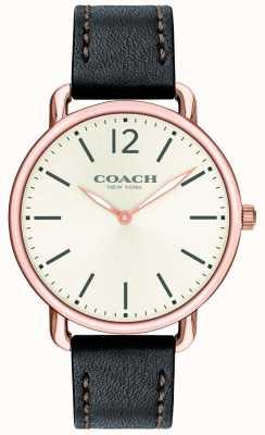 Coach Bracelet homme en cuir noir 14602347