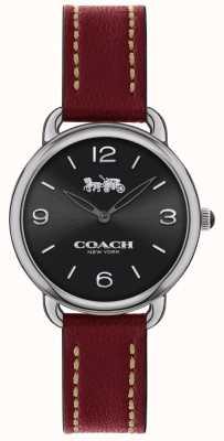 Coach Bracelet en cuir rouge pour femme 14502792