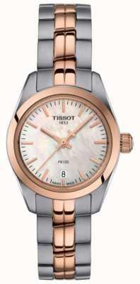 Tissot Mesdames pr100 bracelet deux tons montre cadran en nacre T1010102211101