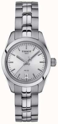 Tissot Montre femme en acier inoxydable pr100 avec cadran en argent T1010101103100