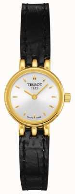 Tissot Bracelet femme en cuir plaqué or quartz plaqué or T0580093603100
