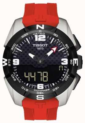 Tissot Chronographe d'alarme solaire titane Expert t-touch pour homme T0914204705700