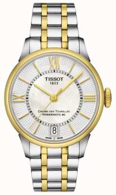 Tissot Womens chemin des tourelles automatique deux tons swiss made T0992072211800