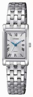 Citizen Bracelet pour femme avec cadran argenté EJ6120-54A