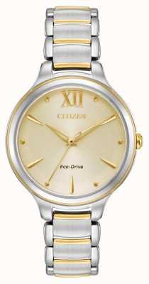 Citizen Cadran doré à deux tons pour femme eco-drive wr50 EM0554-82X