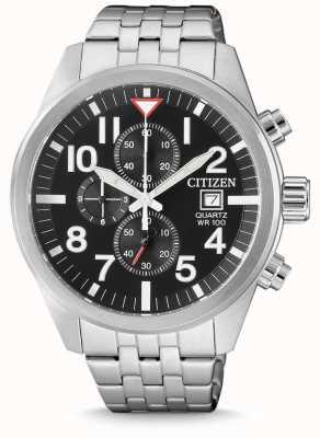 Citizen Chronographe homme acier inoxydable chronographe 100m résistant à l'eau AN3620-51E