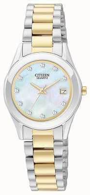 Citizen Ensemble montre et bracelet en quartz de femme EU2664-59D-SETR