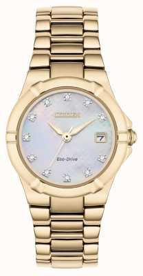 Citizen Cadran diamant femme eco-drive plaqué or rose EW1533-50D