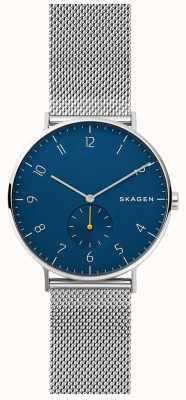 Skagen Cadran bleu en acier inoxydable maille Aaren homme SKW6468