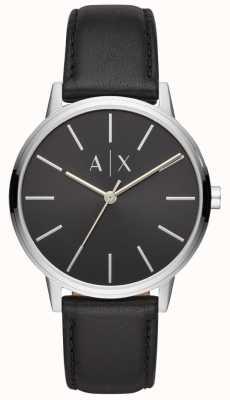 Armani Exchange Cadran en cuir noir Cayde homme cadran noir AX2703
