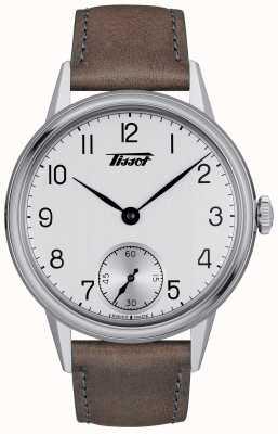 Tissot Bracelet en cuir marron mécanique pour homme Heritage T1194051603701