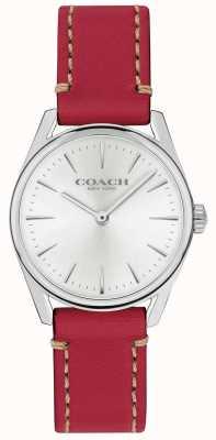 Coach Montre femme en cuir rouge de luxe moderne 14503205