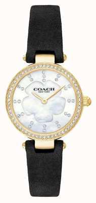 Coach Bracelet en cuir noir de luxe pour femme 14503103