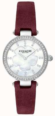 Coach Bracelet en cuir bourgogne de luxe moderne pour femme 14503102
