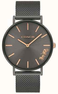 Coach Montre-bracelet à mailles en acier gris perry femme 14503127