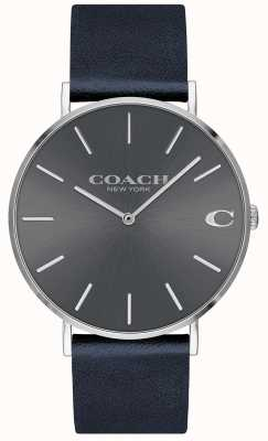Coach Montre homme charles bleu marine avec cadran gris 14602150