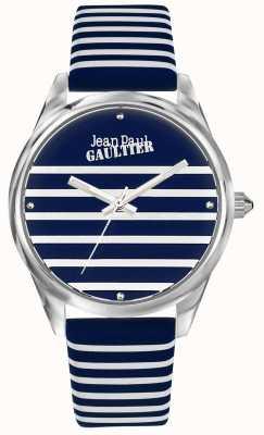 Jean Paul Gaultier Bracelet femme en cuir bleu marine JP8502414