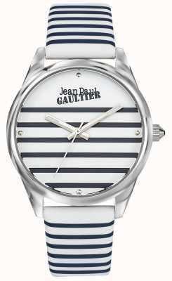 Jean Paul Gaultier Bracelet en cuir bleu marine pour femme JP8502416