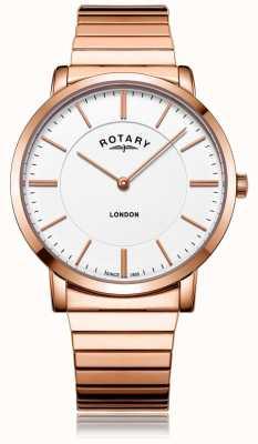 Rotary Montre bracelet en acier à bracelet en acier, Londres, Londres GB02767/02