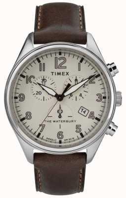 Timex Mens le waterbury marron chrono marron traditionnel TW2R88200