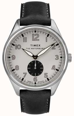 Timex Cuir subdial noir gris traditionnel waterbury TW2R88900