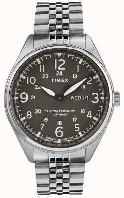 Timex Mens waterbury traditionnel date en acier noir TW2R89300